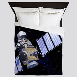 Military satellite Queen Duvet