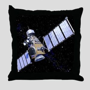 Military satellite Throw Pillow
