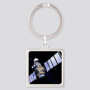 Military satellite Square Keychain