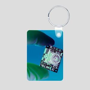 Miniature spy camera Aluminum Photo Keychain
