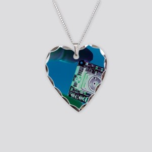 Miniature spy camera Necklace Heart Charm