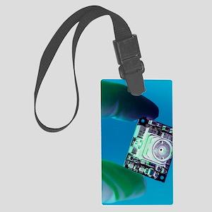 Miniature spy camera Large Luggage Tag