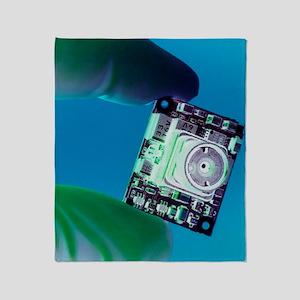 Miniature spy camera Throw Blanket