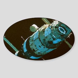 Mir space station in orbit seen fro Sticker (Oval)