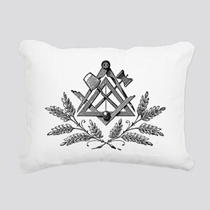 Workings Tools with laur Rectangular Canvas Pillow