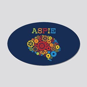 Aspie Brain Autism 20x12 Oval Wall Decal