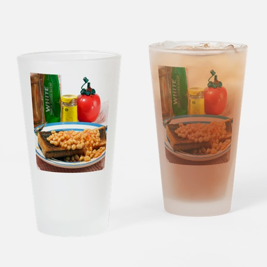 Baked beans on toast Drinking Glass