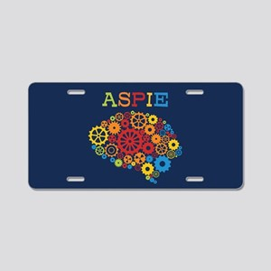 Aspie Brain Autism Aluminum License Plate