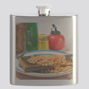 Baked beans on toast Flask