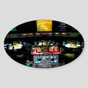 Mission Control at JPL, Pasadena, C Sticker (Oval)