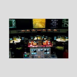 Mission Control at JPL, Pasadena, Rectangle Magnet