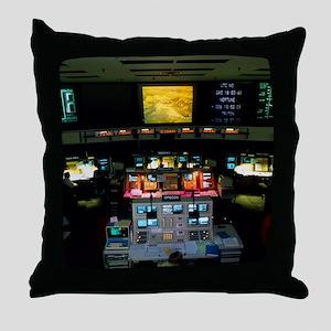 Mission Control at JPL, Pasadena, Cal Throw Pillow