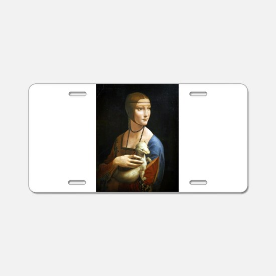 Lady With an Ermine - da Vinci Aluminum License Pl