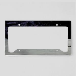Moon base, artwork License Plate Holder