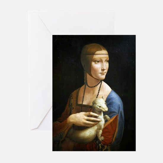 Lady With an Ermine - da Vinci Greeting Cards (Pk