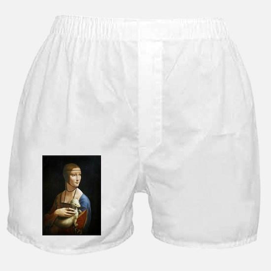 Lady With an Ermine - da Vinci Boxer Shorts