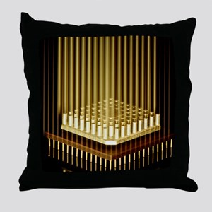 Microprocessor chip Throw Pillow