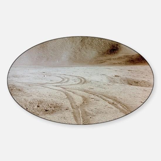 Moon landscape Sticker (Oval)