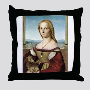 Lady with unicorn - Raphael Throw Pillow