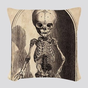 Skeletal Child Alcove Woven Throw Pillow