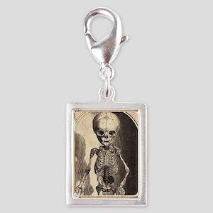 Skeletal Child Alcove Silver Portrait Charm