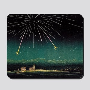 Meteor shower, historical artwork Mousepad