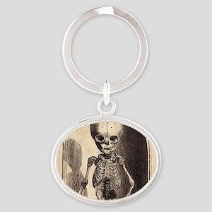 Skeletal Child Alcove Oval Keychain