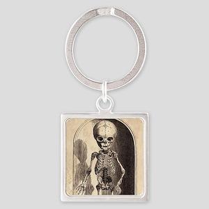 Skeletal Child Alcove Square Keychain