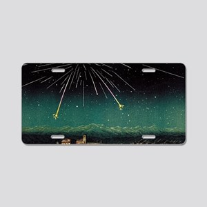 Meteor shower, historical a Aluminum License Plate