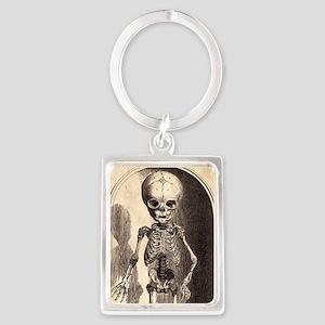 Skeletal Child Alcove Portrait Keychain
