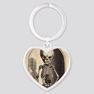 Skeletal Child Alcove Heart Keychain