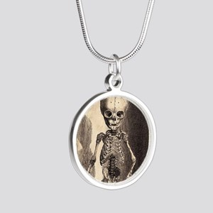 Skeletal Child Alcove Silver Round Necklace