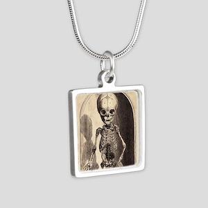 Skeletal Child Alcove Silver Square Necklace