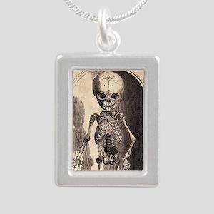 Skeletal Child Alcove Silver Portrait Necklace