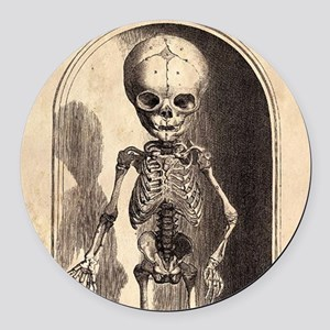 Skeletal Child Alcove Round Car Magnet