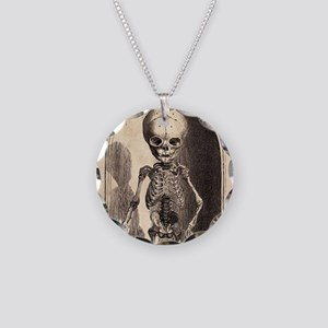 Skeletal Child Alcove Necklace Circle Charm