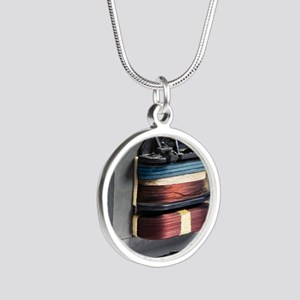 Microwave oven transformer Silver Round Necklace