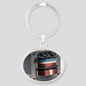 Microwave oven transformer Oval Keychain