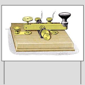 Morse telegraph key Yard Sign