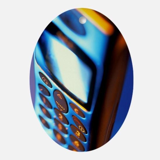 Mobile telephone Oval Ornament