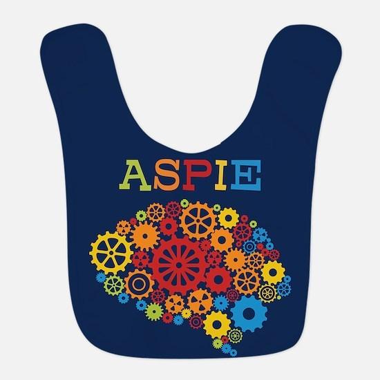 Aspie Brain Autism Polyester Baby Bib