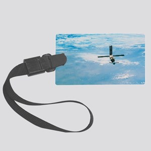 Mir space station in orbit seen  Large Luggage Tag
