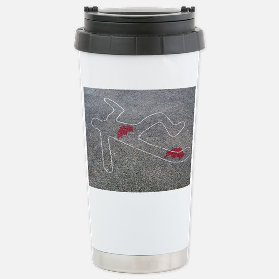 Body oultine Stainless Steel Travel Mug