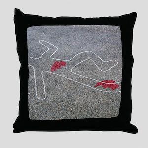 Body oultine Throw Pillow