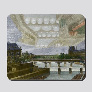 Mirage over Paris, 1869 Mousepad