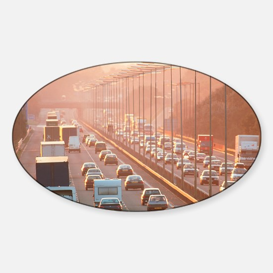 Motorway traffic Sticker (Oval)
