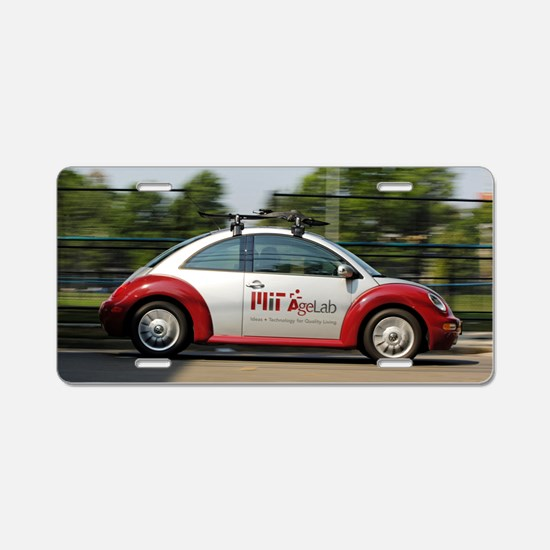 MIT Agelab 'smartcar' vehic Aluminum License Plate