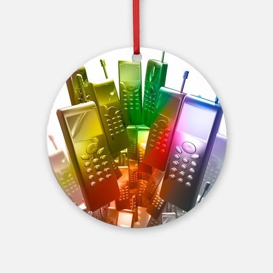 Mobile phones Round Ornament