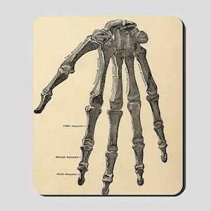 Skeleton hand Mousepad