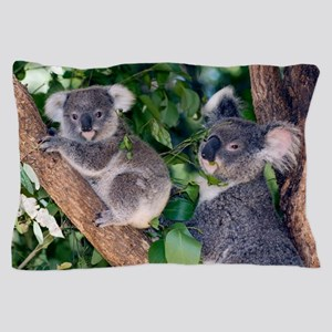 Mother koala and young Pillow Case
